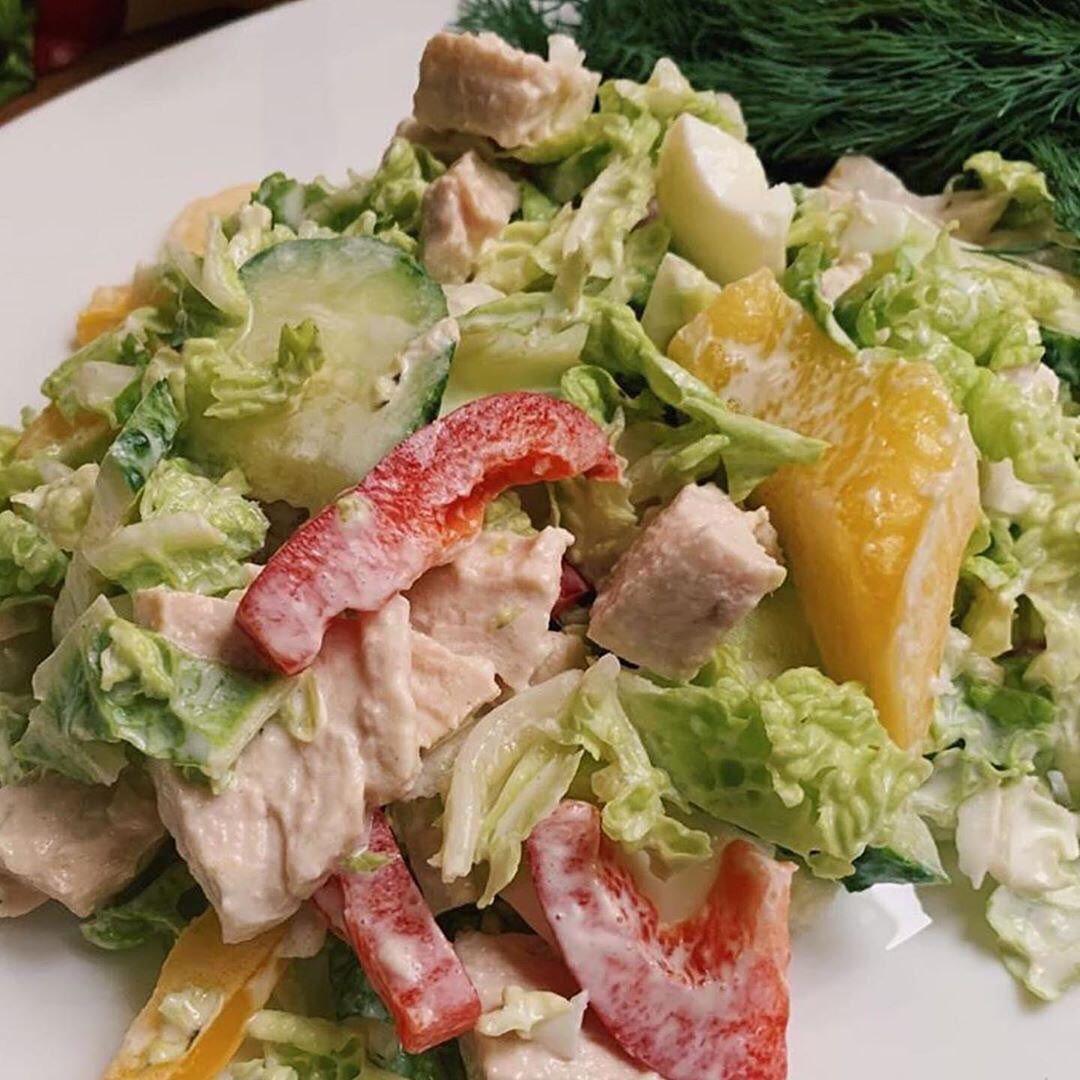 Bez grēka salāti ar tītara gaļu, kas nekaitēs tavai figūrai