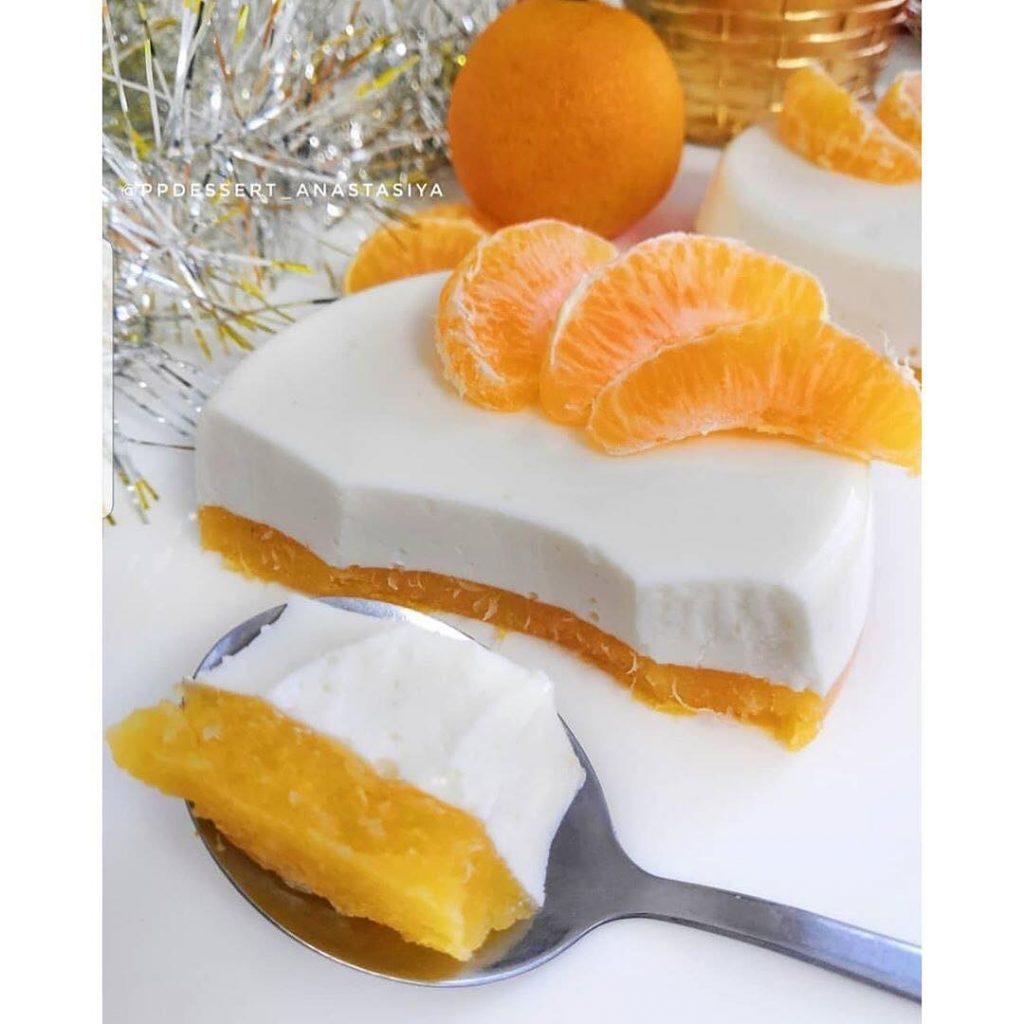 Biezpiena mandarīnu torte