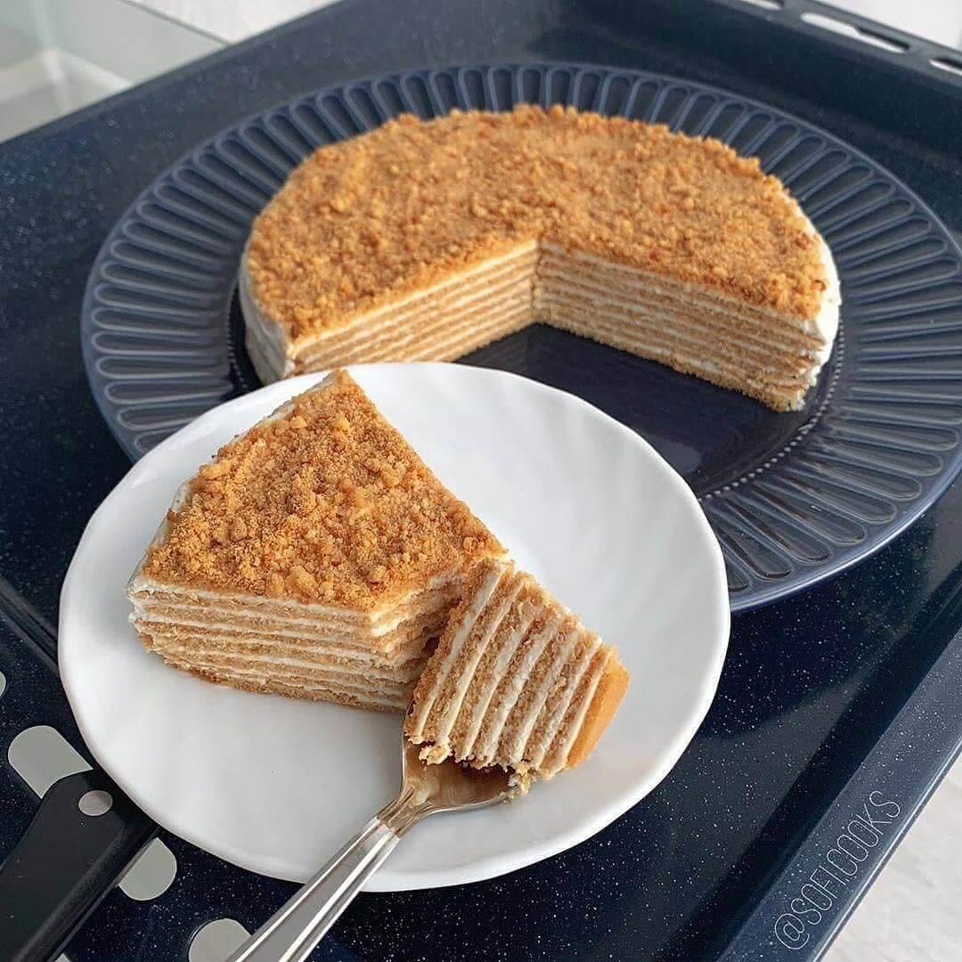 Diētiskā medus tortes versija