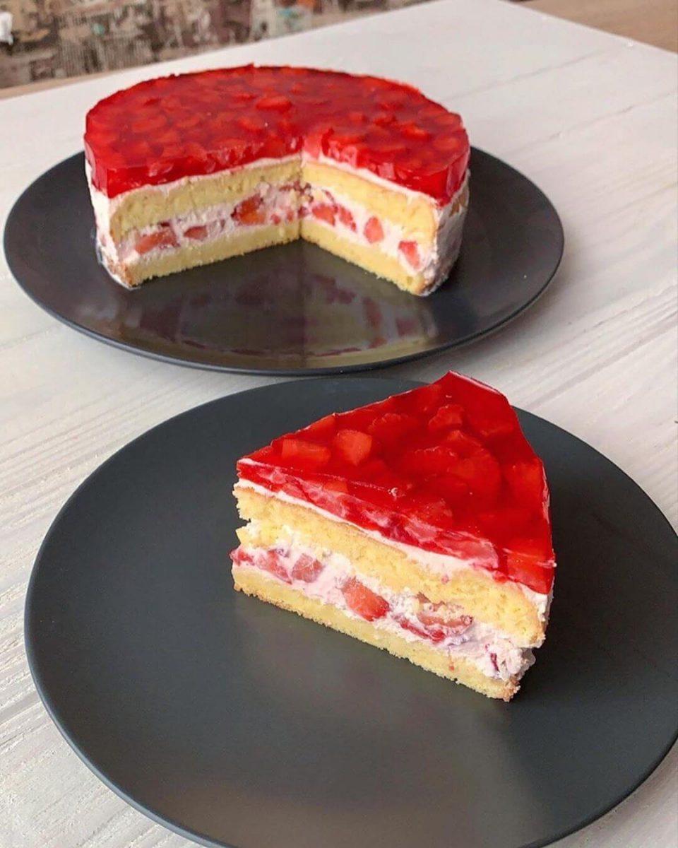 Diētiskā zemeņu torte