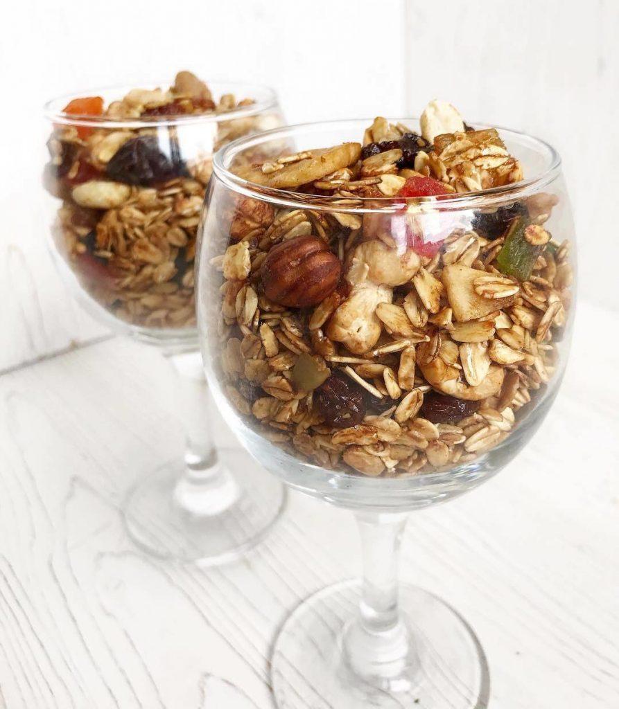 Diētiskās granolas (mušļa) recepte