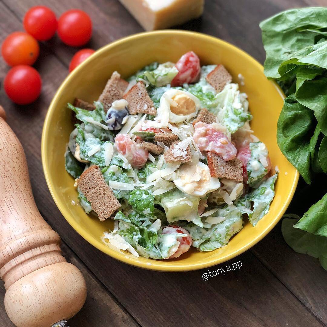 Diētiskie Cēzara salāti
