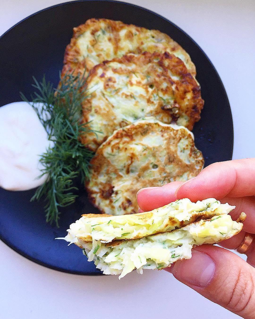Kabaču pankūkas ar brinzas sieru