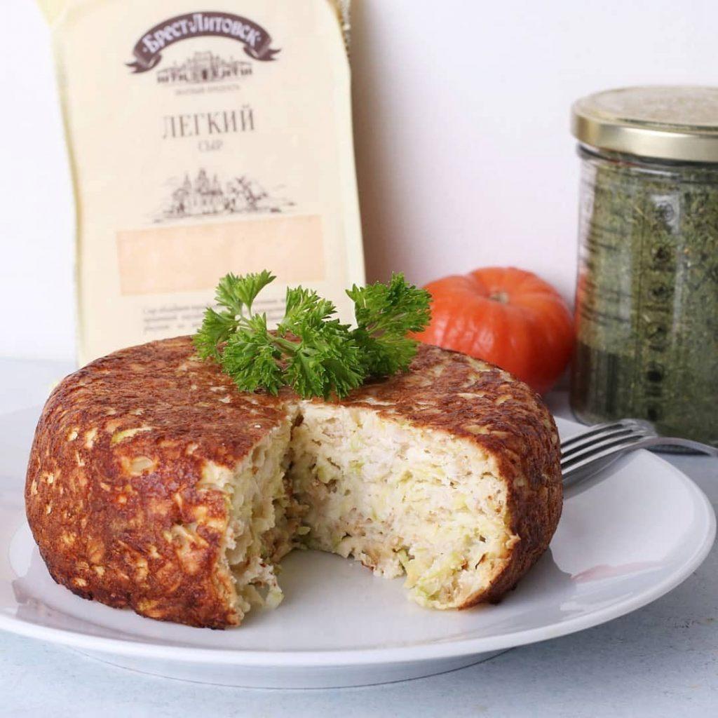 Kabaču sacepums ar sieru un auzu pārslām