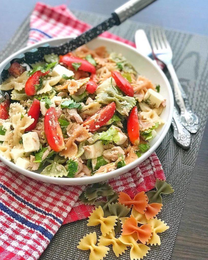 Makaronu salāti ar tunci