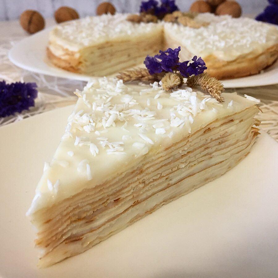 Napaleona kūka ar vārītā krēma pildījumu