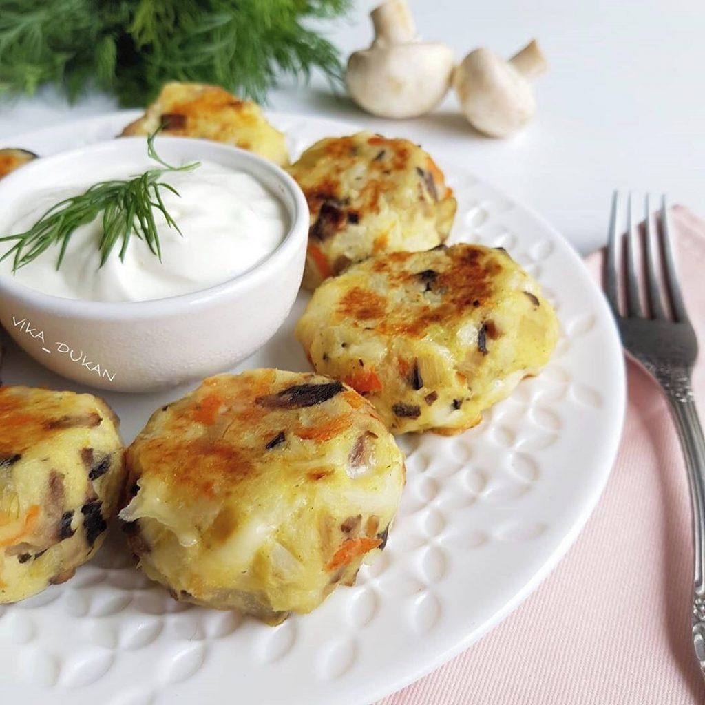 Siera-dārzeņu galetes