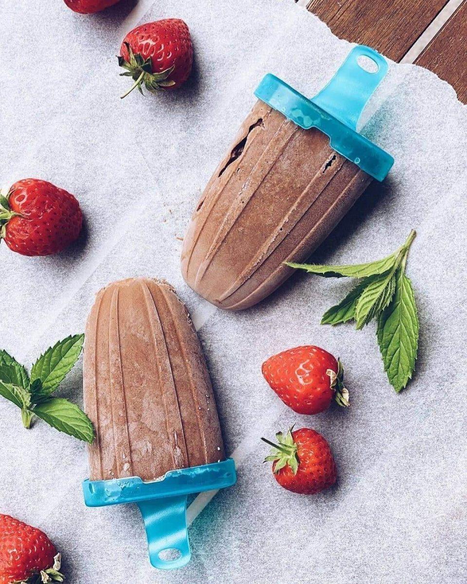 Šokolādes banānu vegānisks saldējums