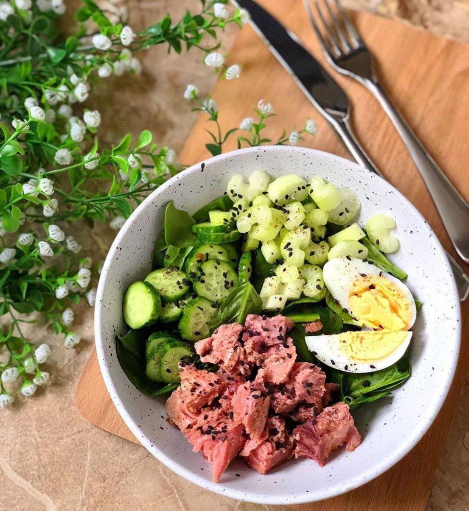 Tunča zivs salātu ideja vakariņām