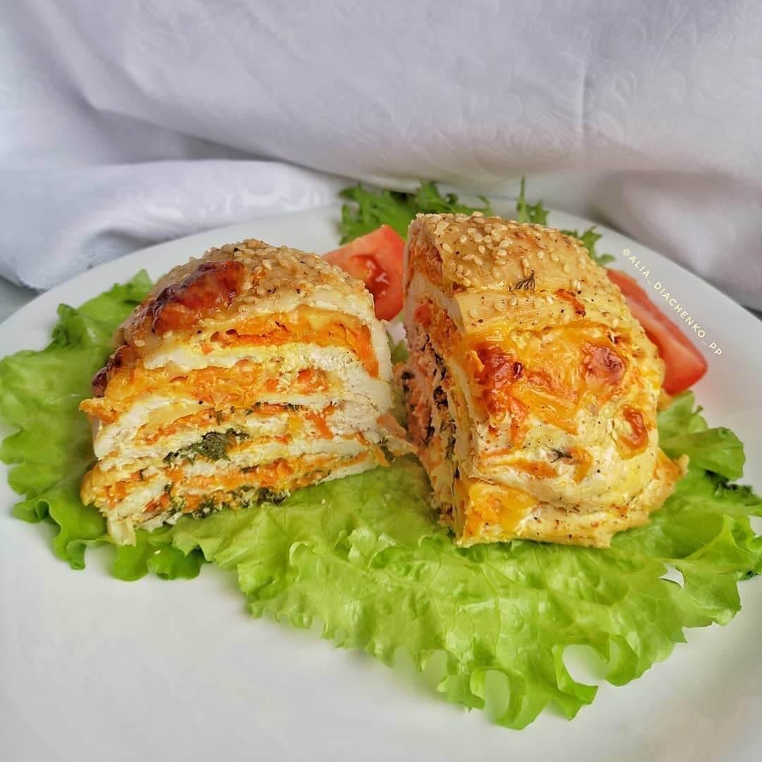 Vistas filejas sacepums ar dārzeņiem un sieru