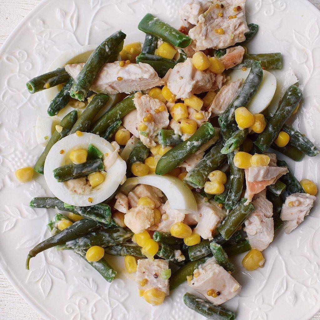 Vistas filejas un sviesta pupiņu salāti