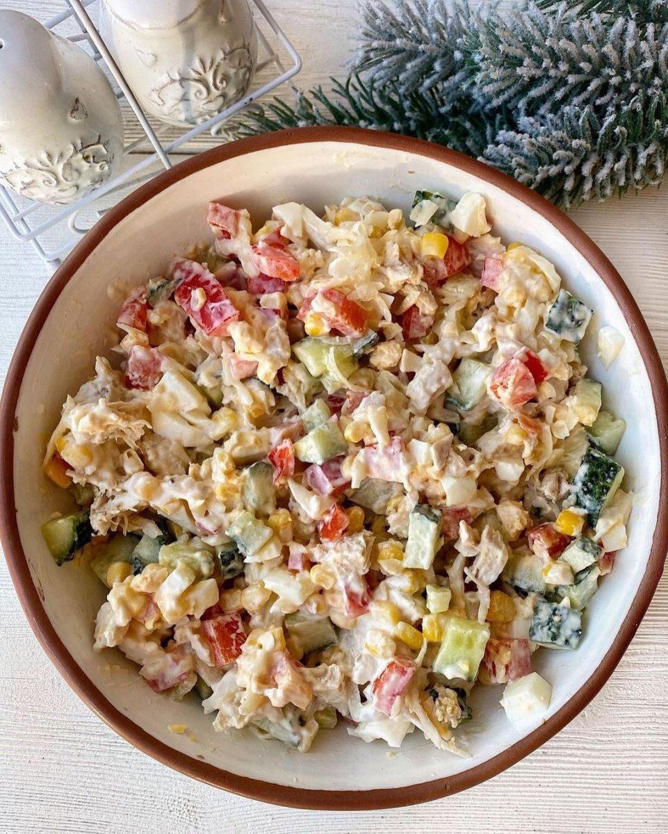 vistas un kukurūzas salāti